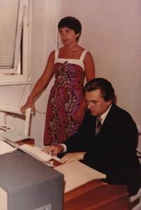 Bokor Jutta 14 évesen Szabó Istvánnal énekel